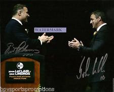JOHN LECLAIR ERIC LINDROS DUAL SIGNED PHILADELPHIA FLYERS WALL OF FAME 8X10