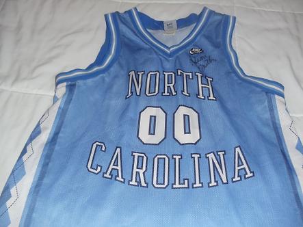 Dean Smith North Carolina Tar heels autographed NIKE jersey #3