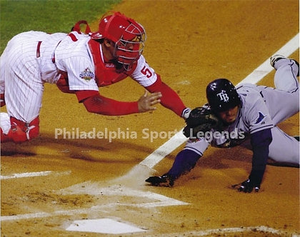 "Carlos ""Chooch"" Ruiz 2008 Philadelphia Phillies World Series tag 8x10"