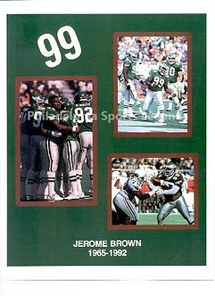 Jerome Brown Philadelphia Eagles 8.5x11 photo stat collage