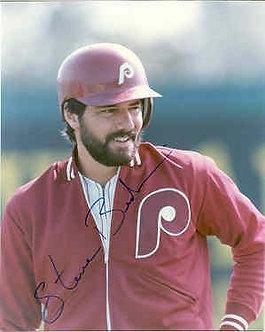 "Steve Bedrosian ""Bedrock"" signed Philadelphia Phillies 8x10 photo"