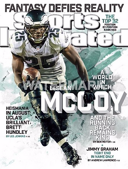 LESEAN MCCOY ALL PRO PHILADELPHIA EAGLES SPORTS ILLUSTRATED PHOTO MUST HAVE