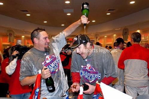 Chase Utley 2008 Phillies World Series Celebration photo