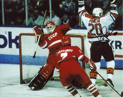 Dave Poulin Philadelphia Flyers autographed All Star Goal vs Russians Tretiak