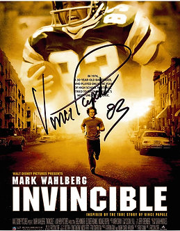 VINCE PAPALE EAGLES SIGNED INVINCIBLE MOVIE 8X10