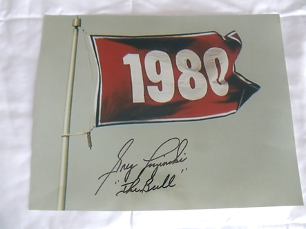 Greg Luzinski autographed 1980 World Series Flag 11x14 photo