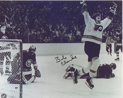 Bob Clarke Philadelphia Flyers autographed game winning goal 11x1 vs Islanders