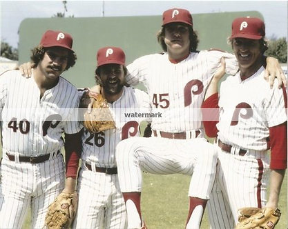 TUG MCGRAW 70'S PHOTO WITH REED BRUSSTAR AND GARBER