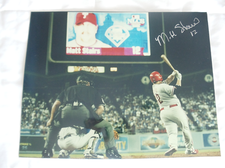 Matt Stairs Philadelphia Phillies signed 11x14 NLDS Home Run vs Dodgers