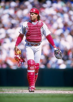 Daren Daulton Phillies catching photo