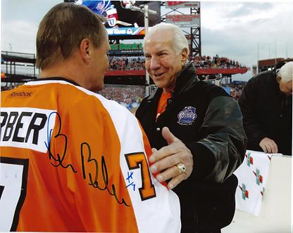 Bill Barber signed Philadelphia Flyers 2011 Winter Classic Alumni 8x10 Ed Snider