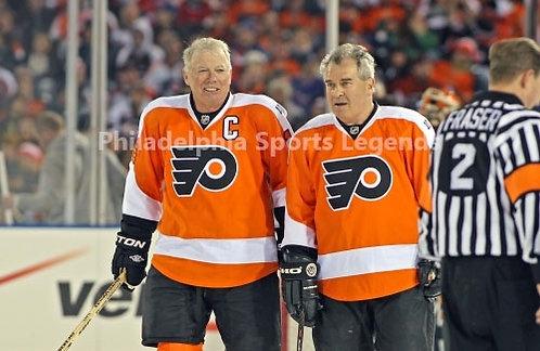 Bob Clarke Joe Watson Philadelphia Flyers 2011 Winter Classic Alumni 8x10