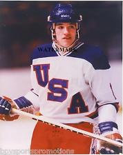 MARK JOHNSON UNSIGNED 1980 OLYMPIC MIRACLE ON ICE 8X10 ACTION W/USSR PHOTO