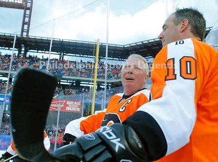 Bob Clarke John LeClair Philadelphia Flyers 2011 Winter Classic Alumni 8x10