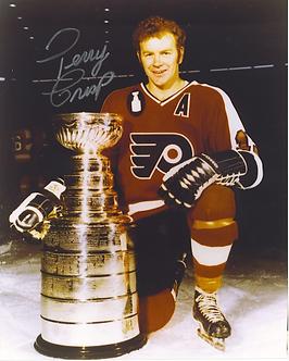 Terry Crisp Philadelphia Flyers autographed 8x10 w/ Stanley Cup