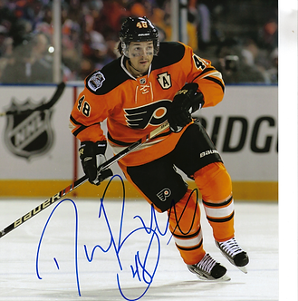 Danny Briere Philadelphia Flyers autographed 2012 Winter Classic action 8x10