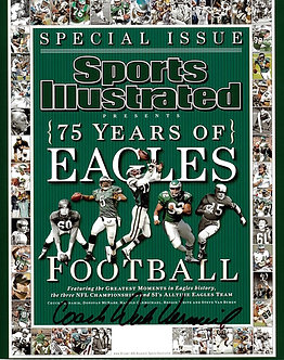 DICK VERMEIL EAGLES SIGNED SPORTS ILLUSTRATED 8X10