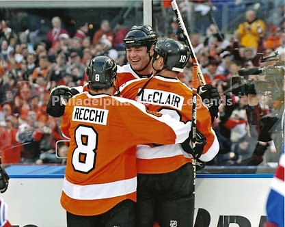 Eric Lindros John LeClair Mark Recchi Philadelphia Flyers 2011 Winter Classic