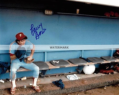 LARRY BOWA PHILLIES 1980 WORLD SERIES CHAMPS SIGNED 8X10 #10