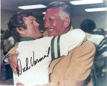 Dick Vermeil autographed Leonard Tose Philadelphia Eagles 1980 NFC Champs 8x101