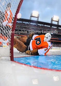 Bernie Parent Philadelphia Flyers 2011 Winter Classic Alumni game save 8x10