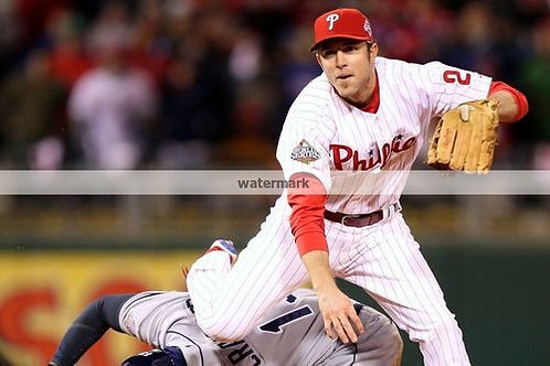 CHASE UTLEY PHILLIES 2008 WORLD SERIES PHOTO