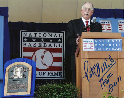 Pat Gillick signed 2011 Hall of Fame Induction 8x10 2008 Philadelphia Phillies