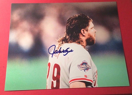 JOHN KRUK 1993 PHILLIES WORLD SERIES SIGNED 8X10