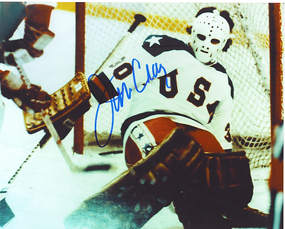 Jim Craig 1980 Olympic Hockey Miracle On Ice autographed 8x10 sliding save #2