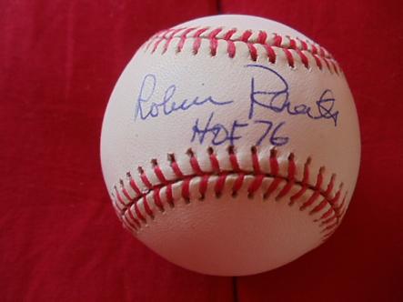 Robin Roberts Philadelphia Phillies autographed MLB baseball Hall of Fame 76