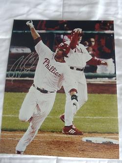 Jayson Werth Phillies signed 2008 World Series Home Run 11x14