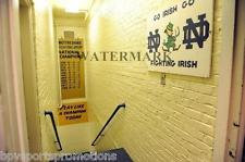 """NOTRE DAME FIGHTING IRISH """"PLAY LIKE A CHAMPION TODAY"""" STAIRWAY 8X10 PHOTO #2"""