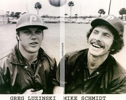 MIKE SCHMIDT GREG LUZINSKI PHILADELPHIA PHILLIES 1980 WORLD SERIES 8X10 CLASSIC