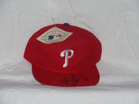 Mitch Williams Philadelphia Phillies signed new hat WILD THING inscription
