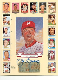 Jim Bunning signed Philadelphia Phillies Hall of Fame Commemorative 8.5x11 photo
