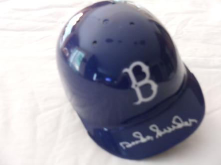 Duke Snider autographed Brooklyn Dodgers mini helmet Hall of Fame