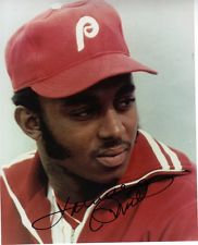 LONNIE SMITH AUTOGRAPHED 1980 PHILADELPHIA PHILLIES WORLD SERIES PHOTO
