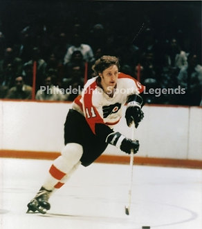 "Don ""The Bird"" Saleski Philadelphia Flyers vintage action 8x10 photo Bullies"