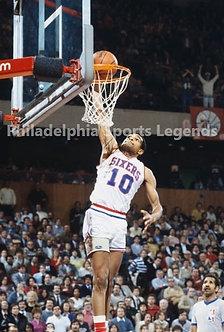 Maurice Mo Cheeks 1983 Philadelphia 76ers dunk 8x10 photo Sixers