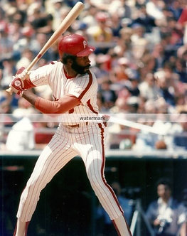 GARY MADDOX 1980 PHILLIES COLOR PHOTO BATTING STANCE