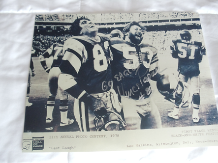 Vince Papale Philadelphia Eagles autographed vintage 11x14 photo