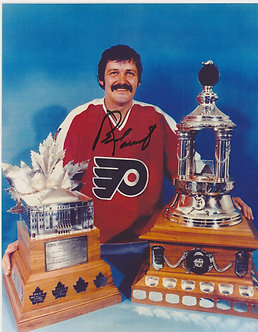 BERNIE PARENT FLYERS HALL OF FAME 8X10 WITH CONN SMYTH VEZINA
