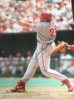 JOHN KRUK 1993 PHILADELPHIA PHILLIES SIGNED 16X20