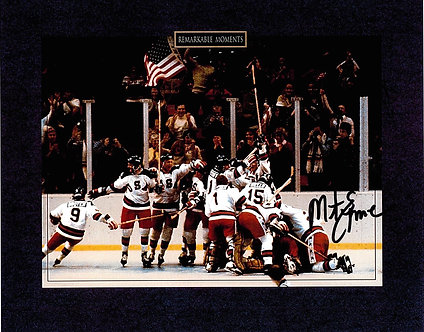 MIKE ERUZIONE SIGNED REMARKABLE MOMENTS 8.5X11