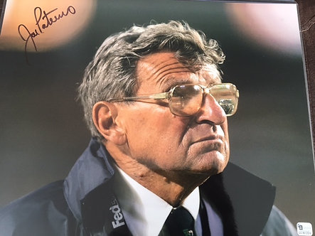 JOE PATERNO SIGNED PENN STATE FOOTBALL 11X14 GLOBAL AUTHENTIC
