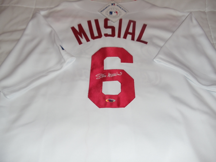 Stan Musial St. Louis Cardinals autographed jersey #2! Hall of Fame