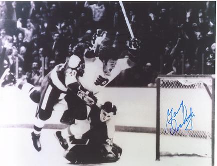 Gary Dornhoeffer signed Philadelphia Flyers 8x10 HISTORIC GOAL vs USSR