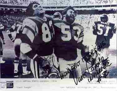 Vince Papale Philadelphia Eagles signed black and white 8x10 classic shot