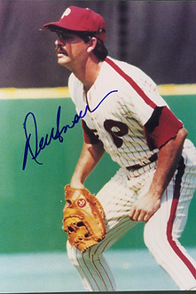Del Unser 1980 Philadelphia Phillies autographed 8x10 photo World Series