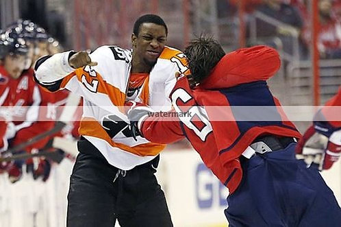 Wayne Simmons Philadelphia Flyers fight photo